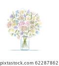Floral bouquet in jar, sketch for your design 62287862