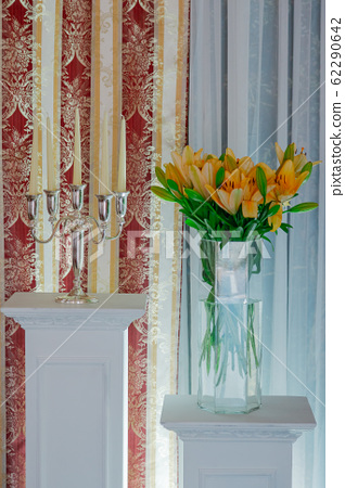 Beautiful decoration of the wedding table with 62290642
