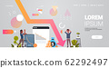 businesspeople frustrated about falling down arrow decrease economy stretching rising drop financial crisis failure concept stressed coworkers man woman couple full length horizontal copy space 62292497