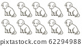 Puppy illustration set (line only) 62294988
