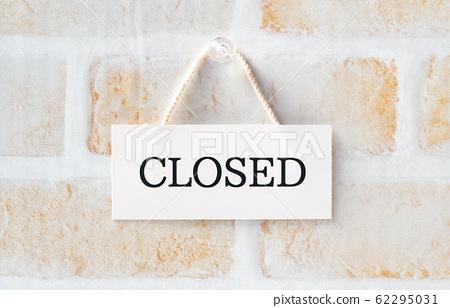 CLOSED 폐점 휴업 폐업 폐쇄 62295031