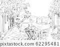 Drawing to the greek town -  sketch illustration 62295481