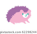Hedgehog pastel purple 62298244