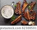 Barbecue beef ribs with bbq sauce sliced 62300501