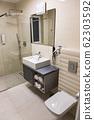 The luxury bathroom interior design and marble 62303592