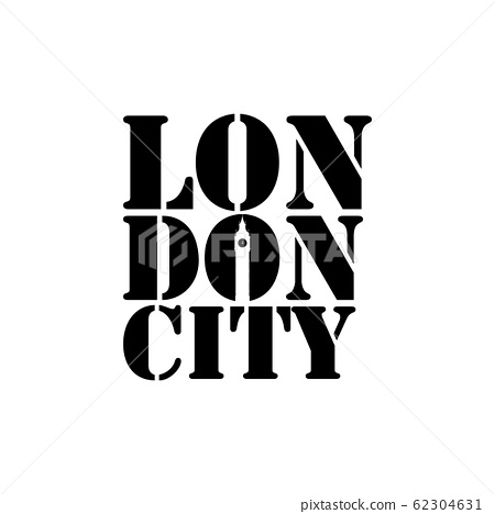 London city negative space typography logo design 62304631