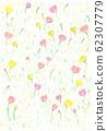 귀여운 꽃 무늬 62307779