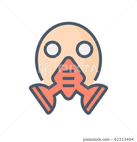 gas mask icon 62313404