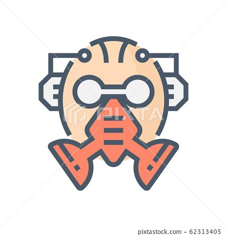 gas mask icon 62313405