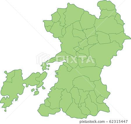 Map of Kumamoto Prefecture_by municipality 62315447