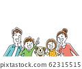 일러스트 소재 : 가족, 미소, 바라 62315515