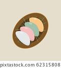 Chuseok cake icon set on the plate 62315808