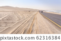 Road from Swakopmund to Walvis bay in Namibia. 62316384