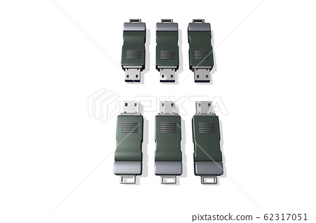 USB memory (3DCG: white background) 62317051