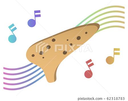 陶笛和音符 62318783