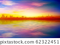 abstract spring background with blue sunset and 62322451