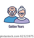 Generational and Retirement Icon set showing 62323975