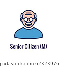 Generational and Retirement Icon set showing 62323976