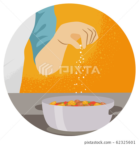 Hand Kitchen Pinch Illustration 62325601