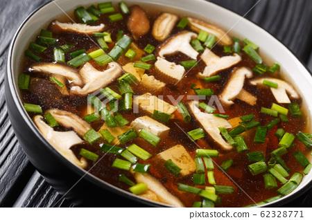 Dietary soup with shiitake mushrooms, tofu and 62328771
