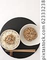 Natto and rice 62333238