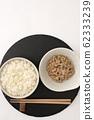 Natto and rice 62333239