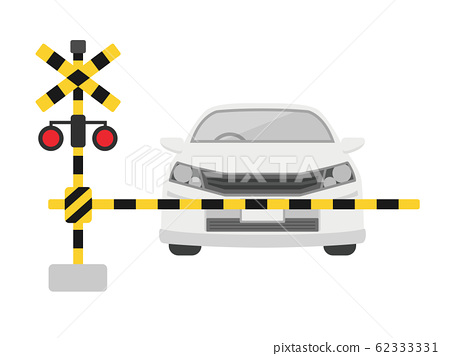 鐵路道口和汽車 62333331