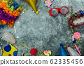Table top view aerial image of beautiful colorful 62335456