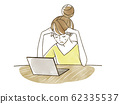 고민하는 여성 - 노트북 62335537