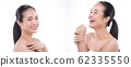 Woman has Beautiful smooth skin and whitening 62335550