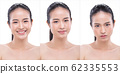 Woman has Beautiful smooth skin and whitening 62335553