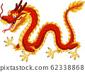 Cartoon red chinese dragon flying 62338868
