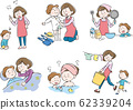 Mother, child, parent and child, childcare, life, set 62339204