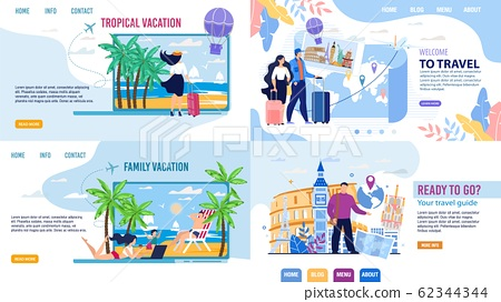 Tour Agency Landing Page Set Inviting to Travel 62344344