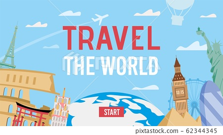 World Travel by Air Invitation Banner Template 62344345
