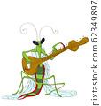 Praying Mantis playing sitar 62349897