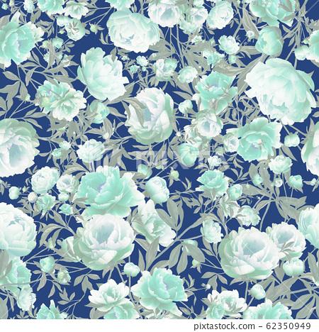 Vintage blue floral seamless pattern 62350949