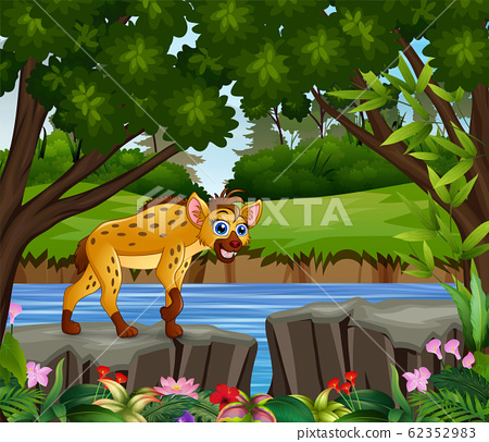 A hyena looking for prey at daytime 62352983