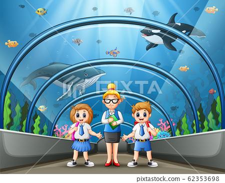 The school trip to aquarium park illustration 62353698