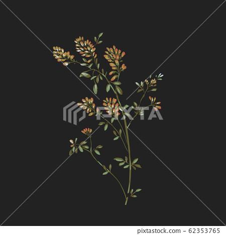 深底上色彩豐富的花卉素材 62353765