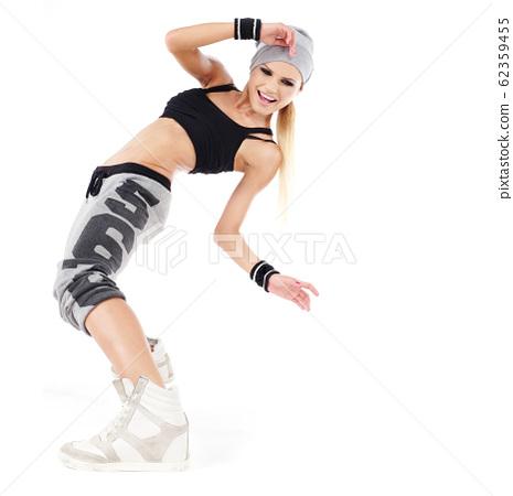 modern style dancer posing on studio background 62359455
