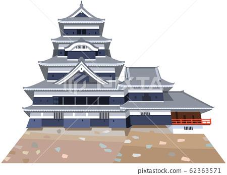 松本城圖像旅遊勝地圖圖標 62363571