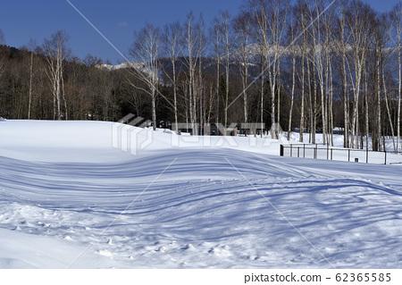 冬季,雪景,山脉,自然,风景,树,阳光,蓝色 62365585