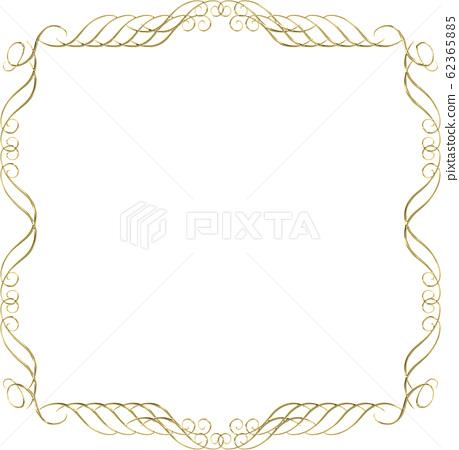 具有金屬質感的巴洛克式金飾,飾物,裝飾品和盒子| 62365885