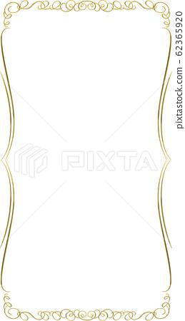 금속 질감 골드 바로크 양식의 장식품 장식 괘 · 장식 묶 | 금색 · 직사각형 62365920