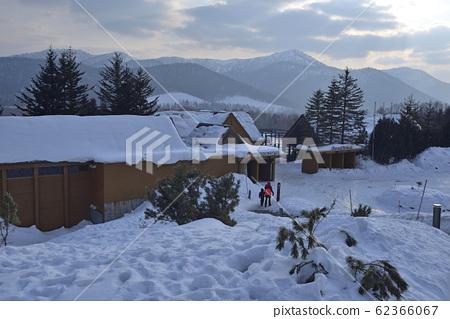 日本,北海道的冬天,屋,雪景,風景 62366067