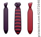 Three purple neckties set on white background 62372646