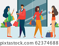 Man and woman is shopping. holding bags shopping 62374688