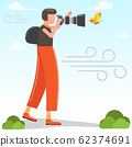 Vector photographer character modern flat style. 62374691