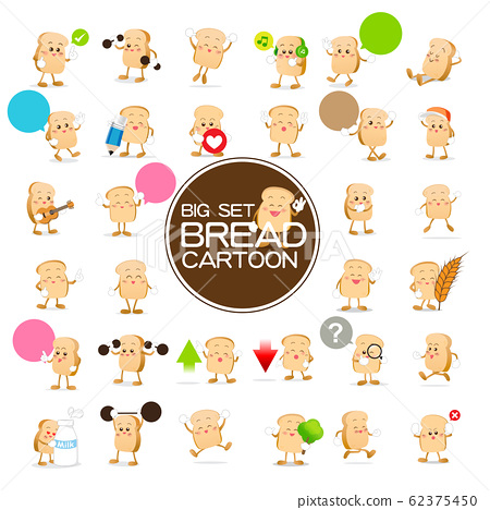 Set of Bread cartoon 62375450